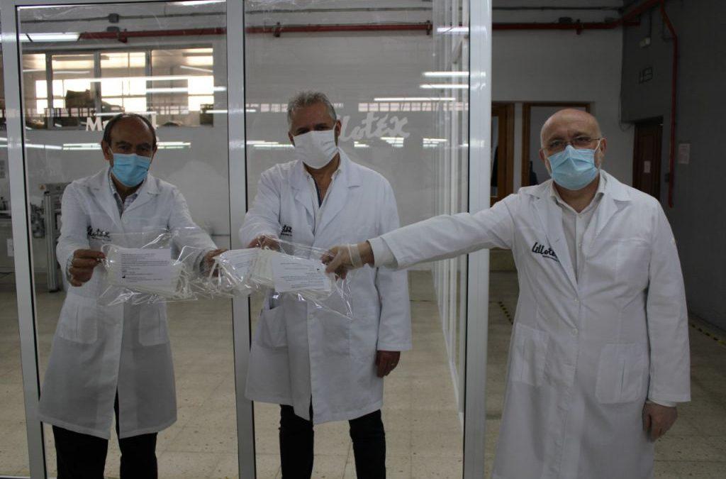 La Junta conoce el trabajo de Lillotex para fabricar mascarillas